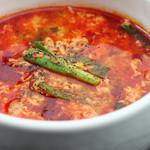 和牛焼肉 二代目 ばんばん - ユッケジャンスープ