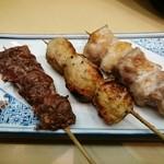 天成 - 串焼き3本セット(かしら→つくね→正肉)