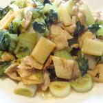 ほんわ華や - 豚肉と高菜の炒め物。