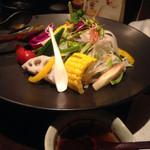千代芭 - 旬菜サラダ750円