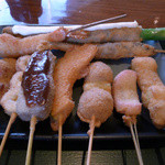 串揚処 ぶらんにゅう亭 - Aランチの串揚げ