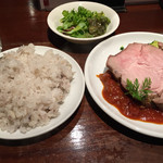 肉とワイン bonanza - ランチのローストポーク!