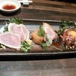 豚しゃぶ せいろ蒸し HARU - 芳寿豚三種盛り♪