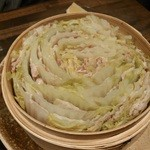 豚しゃぶ せいろ蒸し HARU - 桜ポークと白菜のミルフィーユせいろ蒸し♪