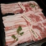 豚しゃぶ せいろ蒸し HARU - 味くらべ 三大豚しゃぶしゃぶ♪