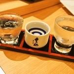 豊祝 - きき酒セット(純米吟醸 貴仙寿吉兆、純米酒 豊祝、本醸造 貴仙寿辛口)