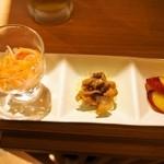 豊祝 - 豊祝セット(前菜3種盛)