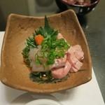 食べ処呑み処 柳ばし - カワハギのお造り 至福のとき…おいしくてたまりません(^^)