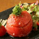 そして…はなまる - まるごとトマトサラダ