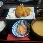 具魯烏葡 - 太刀魚と海老のフライ(880円)