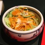 銀座 天一 - あやめ膳 と 季節の天丼 のサラダ (2015/04)