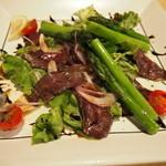38148452 - 鹿肉とトマト&アスパラのサラダ