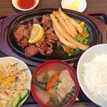 焼肉乃我那覇 - サイコロステーキセット(¥900)