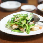 台湾料理 光春 - 金針菜と海老の炒め