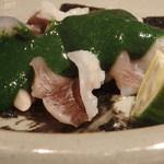 野口太郎 - 舞鶴のとり貝とモロヘイヤのすり流し