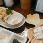 気楽料理 だい - ホタルイカ天ぷら&北海道水蛸造り