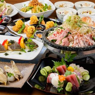 旬の食材と、名古屋「柳橋市場直送」新鮮鮮魚のご宴会コース