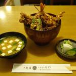 千束いせや - 「海老穴子天丼」 2015年3月
