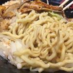 油そば春日亭 - ゴワゴワな太麺