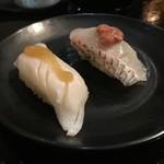 Sushi Sasabune  - ☆鯛とえんがわ梅肉(*^^)v☆