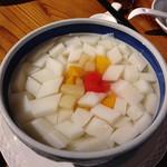 成都飯店 - 杏仁豆腐です。