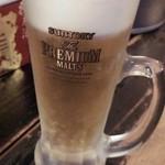 火場忠 - 生ビール 380円