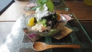 カフェ茶屋 珈夢 - 『珈夢ぱふぇ』720円 H26.5.18撮影