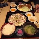 ちづる食堂 - チキンカツ定食、冷豚しゃぶ定食