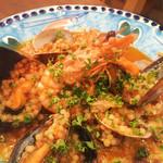 ピッツェリア イルフィーコ - 料理写真:天使の海老と魚介のフレーグラ