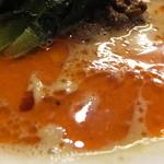 四川担担麺 阿吽 - 担々麺三辛のスープ