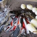 たつこ茶屋 - 囲炉裏のたんぽ