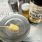 松葉 - 瓶ビールモルツ500円(2015.05)