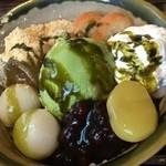 マメゾウアンドカフェ - おわんの抹茶パフェ810円