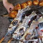たつこ茶屋 - 味噌たんぽと岩魚
