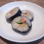 38189151 - ・韓国冷麺定食 韓国海苔巻き