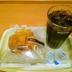 ドトールコーヒーショップ 新百合ヶ丘店 - オレンジブリオッシュ&アイスコーヒー