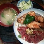 居酒屋どんたく - 料理写真:ハーフ丼500円
