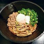 汁なし - 【温 汁なし担々麺 + 半熟卵】¥650 + ¥80