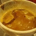 まんねんカレー - 全部のせカレーつけ麺(つけ汁)