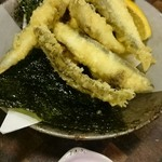 すし道場 - 稚鮎の天ぷら