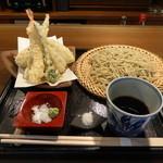 武右衛門 - 天ぷらと棒茶のそば(1300円)