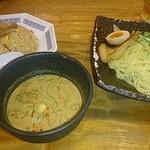 らーめん熊五郎 - 半チャンつけ麺セット