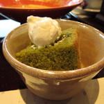 布穀薗 - ミニデザートの抹茶シフォンケーキ