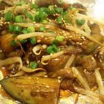 ごっつい - 牛スジとナスの味噌炒め