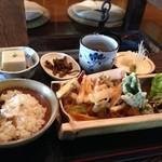 浄楽 - 昼ランチ・かき揚げ天ぷらとそば豆腐