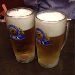 38202198 - キリンラガービール(中ジョッキ 550円×2