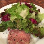 38202880 - グリーンサラダと豚肉のパテ