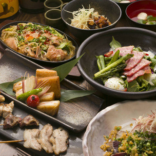 【忘年会にオススメ!】季節の創作料理・厳選5本串コース