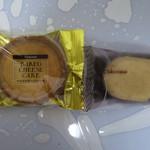 シャトレーゼ - (左から)ベイクドチーズケーキ、ダックワーズ