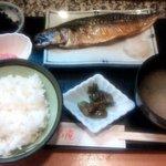 割烹 さくら庵 - サバ塩焼定食